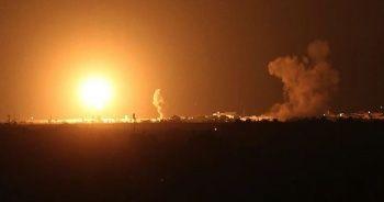 İsrail ordusu Hamas'a ait noktaları vurdu