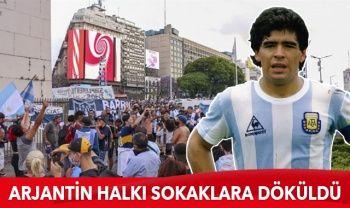 Maradona'nın ölümünün ardından yasa boğulan Arjantin halkı sokaklara döküldü