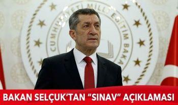 Milli Eğitim Bakanı Selçuk'tan 'sınav' açıklaması