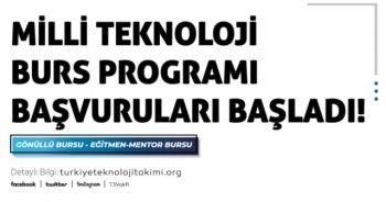 Milli Teknoloji Burs Programı başvuruları başladı