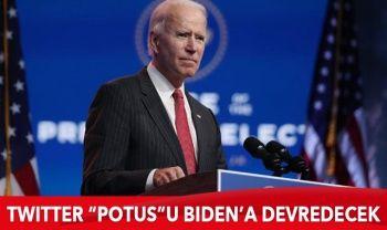 """Twitter, 20 Ocak'ta """"POTUS"""" hesabını Joe Biden'a devredecek"""