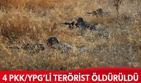 4 PKK/YPG'li terörist öldürüldü