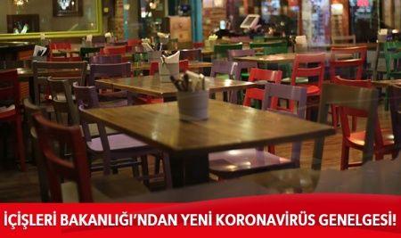 81 il valiliğine konaklama tesislerindeki restoranlar konulu genelge