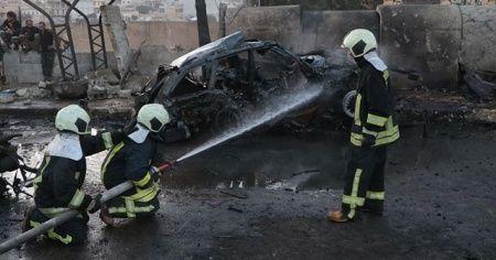 Afrin'de bombalı terör saldırısı: Bir sivil hayatını kaybetti, 13 sivil yaralandı