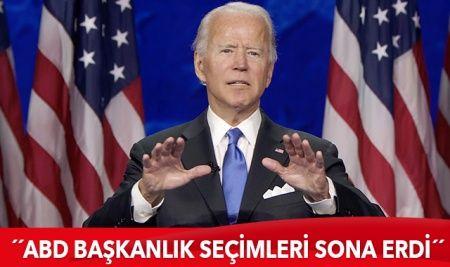 Biden: ABD başkanlık seçimleri sona erdi