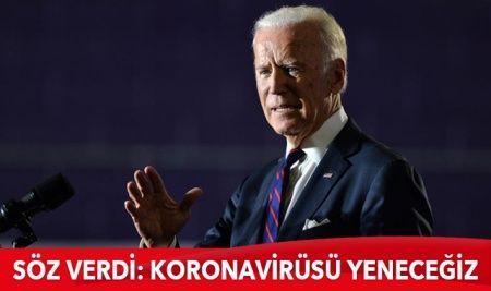 Biden söz verdi: Koronavirüsü yeneceğiz