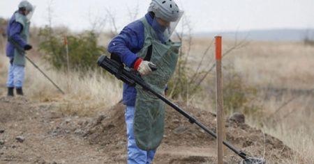 Dağlık Karabağ'da mayın temizliği devam ediyor