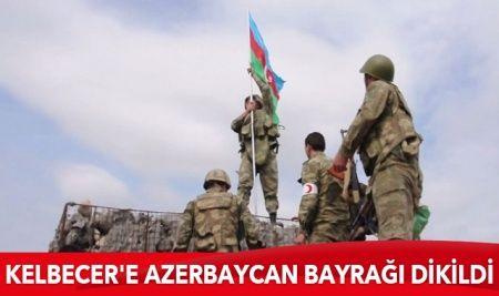 Ermenistan işgalinden kurtarılan Kelbecer'e Azerbaycan bayrağı dikildi