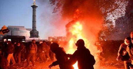 Fransa'da olaylar çıktı