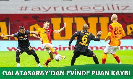 Galatasaray'dan evinde puan kaybı
