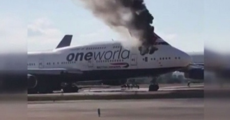 İspanya'da yolcu uçağı alev aldı
