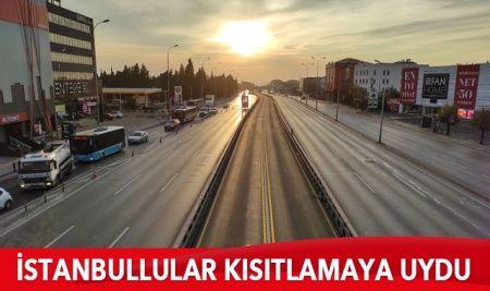 İstanbullular sokağa çıkma kısıtlamasına genel olarak uydu