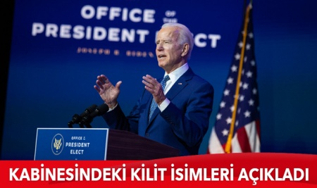 Joe Biden kabinesini açıkladı