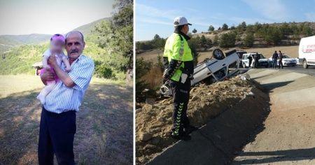 Kazada ağır yaralanan yaşlı sürücü hastanede hayatını kaybetti