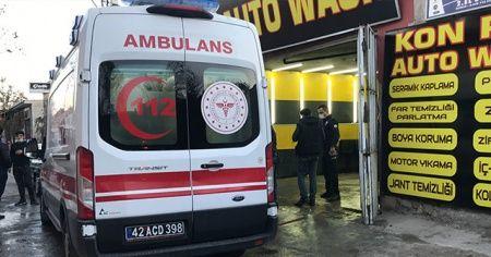 Konya'da oto yıkamacıda silahlı saldırı