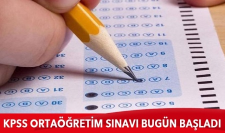 KPSS Ortaöğretim sınavı tedbirler çerçevesinde başladı