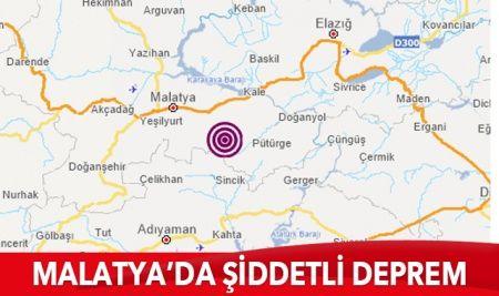 Malatya'da 4.7 büyüklüğünde deprem meydana geldi