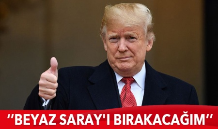 Trump'tan flaş açıklama! 'Beyaz Saray'ı bırakacağım'