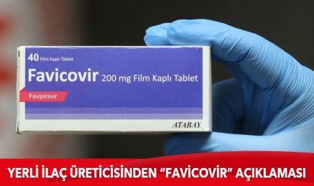 """Yerli ilaç üreticisinden """"Favicovir"""" açıklaması"""
