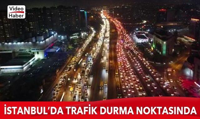 56 saatlik kısıtlamaya 2 saat kala E-5 karayolunda trafik yoğunluğu