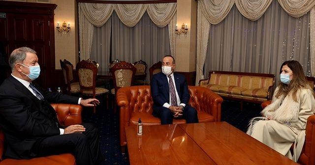 Bakan Akar ve Çavuşoğlu Ukrayna'da