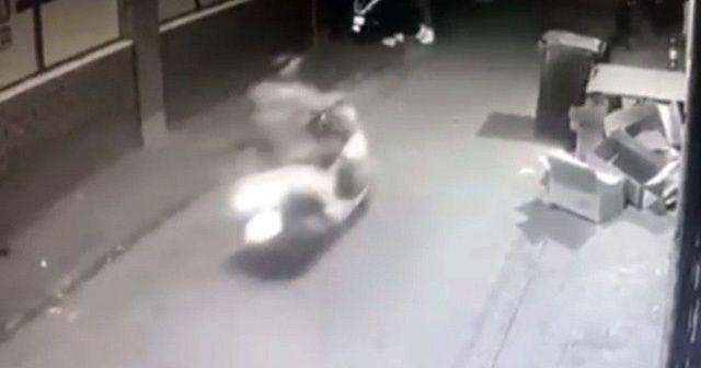 İstanbul'da ilginç kazalar kamerada