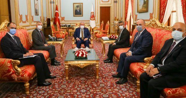 TBMM Başkanı Şentop, Moldova Büyükelçisi Croitor'u kabul etti