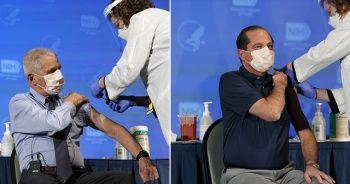 ABD Sağlık Bakanı Azar ve Dr. Fauci Moderna'nın Kovid-19 aşısını oldu