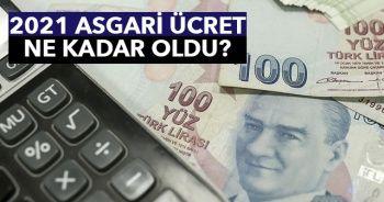 Asgari ücret ne kadar oldu? Asgari ücret 2021 net ne kadar oldu