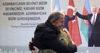 Bakan Akar ve TSK komuta kademesi Bakü'de