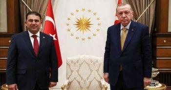 Cumhurbaşkanı Erdoğan KKTC Başbakanı Saner'i kabul etti