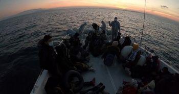 Ege'de Türk kara sularına geri itilen 44 sığınmacı kurtarıldı