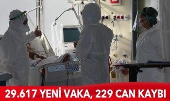 Türkiye'de koronavirüste son durum: 29.617 yeni vaka, 229 can kaybı
