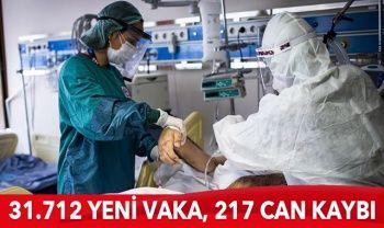 Türkiye'de koronavirüste son durum: 31.712 yeni vaka, 217 can kaybı