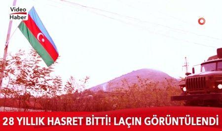 Azerbaycan, Ermenistan'ın işgalinden kurtarılan Laçın'ı görüntüledi