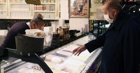 Cumhurbaşkanı Erdoğan bir pastaneden alışveriş yaptı