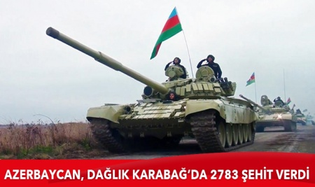 Dağlık Karabağ'daki savaşta 2783 şehit verdi
