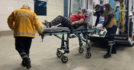 Eşi tarafından dövülen kadın hastanelik oldu