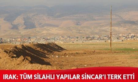 Irak: Tüm silahlı yapılar, Sincar'ı terk etti