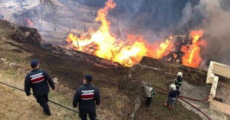 Rize'de çıkan yangın kontrol altına alındı
