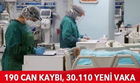 Türkiye'de koronavirüste son durum: 30.110  yeni vaka, 190 can kaybı