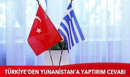 Türkiye'den Yunanistan'a yaptırım cevabı