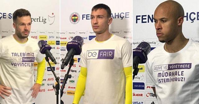 Fenerbahçeli futbolculardan yayıncı kuruluşa tepki