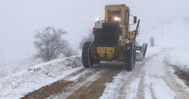 Kırıkkale'de kapanan köy yolu ulaşıma açıldı