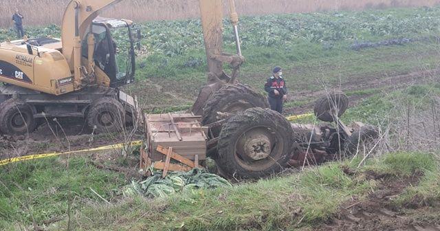 Manyas'ta traktör kazası: 2 ölü