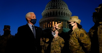 ABD Başkan Yardımcısı Pence, Biden'ın yemin töreni için güvenlik önlemlerini denetledi