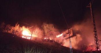 Araklı'da yangın 6 saatte kontrol altına alındı