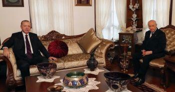 Cumhurbaşkanı Erdoğan, MHP Genel Başkanı Devlet Bahçeli ile görüştü