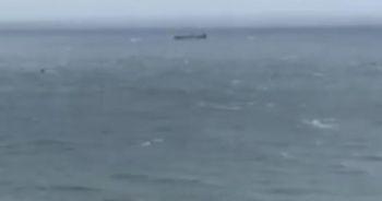 İnkumu açıklarında Rus bandıralı bir kuru yük gemisi battı