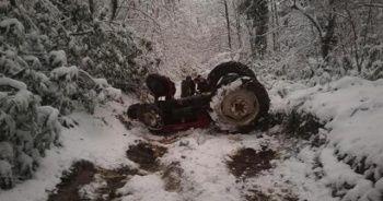 Kontrolden çıkan traktör devrildi: Ölü ve yaralı var